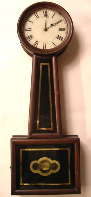 The Hanebergs Antiques Banjo Clock Attributed To Hatch