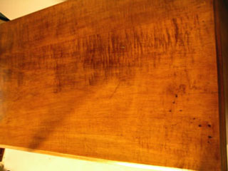A Strong Tiger Maple 33 inch Case Width Chest