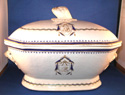 Chinese Export Soup Tureen with Monogram