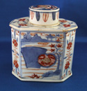 Chinese Export Tea Caddy in the Imari Pattern