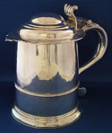 English Silver Tankard 1711 by Richard Green
