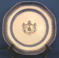 Pair of Armorial Dinner Plates, Arms of Gregorie
