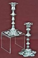 Pair of English Sterling Candlesticks, by John Cafe