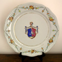Large Armorial Chinese Export Charger