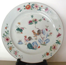 Chinese Export Porcelain Charger in the Famille Rose Pattern