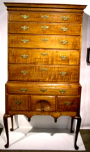 Tiger Maple Highboy