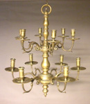 19th Century Dutch Brass Chandelier