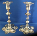 Pair of Silver Candlesticks by John Cafe