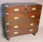 Camphor Wood Brass Bound Campaign Chest