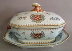 Armorial Soup Tureen and Undertray, Arms of SAYER