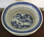 Large Nanking Reticulated Fruit Basket and Under Tray