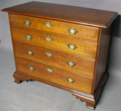 New London County Connecticut Cherry Chest of Drawers