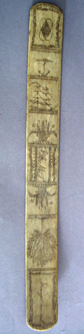 Scrimshaw Busk- Engraved Forget Me Not