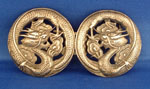 Chinese Silver Dragon Belt Buckle