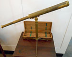 Brass Telescope on Stand from Boston