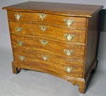 Cherry Reverse Serpentine Front Chest of Drawers