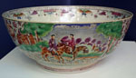 Very Rare Chinese Porcelain Hunt Bowl