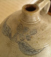 Incised Ovoid Stoneware Jug